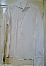 FAB UNBRANDED/CUSTOM TAILORED FIT OXFORD COTTON WHITE SHIRT UK 16.5 EU 42