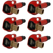 MSD Ignition 82576 EcoBoost Coil in Red Fits 2011-2016 Ford F150 Pack of 6