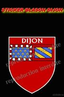 Sticker blason dijon departement STICKER 100x75mm AUTOCOLLANT STICKERS MOTO