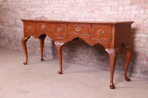 Baker Furniture Queen Anne Banded Mahogany Sideboard, Newly Refinished
