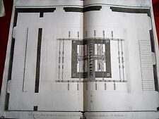 21-38-44 Gravure 18e Diderot et d'Alembert glaces machine établie à St Idelfonse