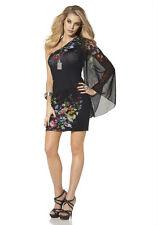 One-Shoulder-Kleid, MELROSE. Schwarz bedruckt. Gr. 40. NEU!!! KP 57,99 € %SALE%