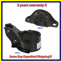 Front Engine Motor Mount Set 2PCS. 1992-1993 for Acura Integra 1.8L A6573 A4514