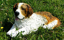 CHIENS Figurine Saint-Bernard grand 51x26x24 véritable Figure animale déco en