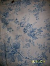 Vintage Sewing Craft Drapery Decorator Fabric RALPH LAUREN Blue Floral Toile 4Y