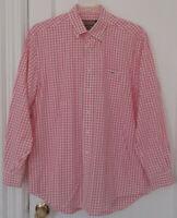Vineyard Vines Shep & Ian Tucker Button Front Pink Check Shirt 100% Cotton Sz L