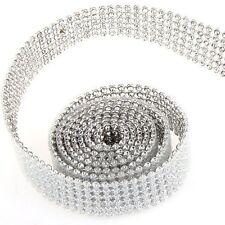 braided belt rhinestone shine Silver 20mm 1m T1
