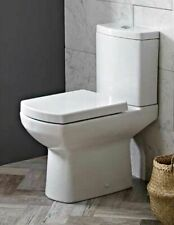 Square High Level (Comfort Raised Height)  WC Pan, Cistern + Toilet Seat (1014)