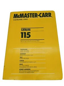 McMaster Carr Catalog # 115 Aurora OH Very Good Condition