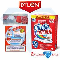 Dylon Colour Catcher Value Pack Of 40 Sheets Prevents Colour Run Mixed Washes