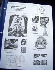 Mercedes M100 6.3 ENGINE SERVICE REPAIR MANUAL for 300SEL 6.3L 109.018 1967-1972