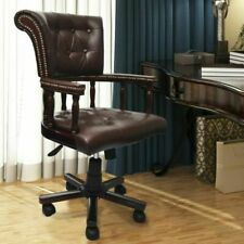 VidaXL Vintage Chair Office Leather MIx - Brown