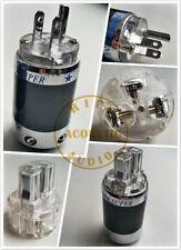 1Set HiFi M-Audio Carbon Fiber Rhodium Plated Us Ac Power Plug Iec Connector M+F
