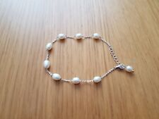Pearl bracelet silver with adjustable clasp