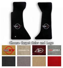 Corvette C4 2pc Classic Loop Carpet Floor Mats-Choice of Carpet Color & Logo