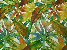 RICHLOOM CANTRELL SPRING GREEN TROPICAL LEAF OUTDOOR INDOOR FABRIC BY THE YARD