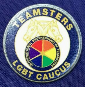 Rare Teamsters LGBT Caucus Trade Union pin