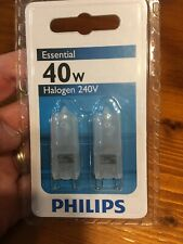 PHILIPS 2 X 40w G9 Frost Halogen Dimmable WEDGE Light Globe 240v Capsule