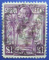 1932 SIERRA LEONE 1P SCOTT# 152 SG# 167 USED CS06196