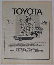 Advert Pubblicità 1973 TOYOTA COROLLA E20 BERLINA / LAND CRUISER BJ 40 SOFT TOP