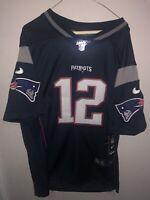 Nike New England Patriots Tom Brady NFL 100 LIMITED Rare Jersey W/ Tags Size L