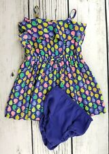 CHEROKEE Pear Toddler Girls Dress with Bloomers size 18 mo
