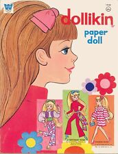 Vntg 1970S Dollikin Paper Doll Rare Uncut Lasr Reproduction No.1 Selr Frees