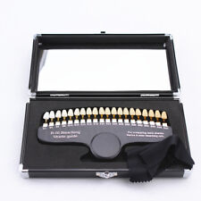 Dental Shade Guide Teeth Whitening Shade Guides Tooth Bleaching with Mirror