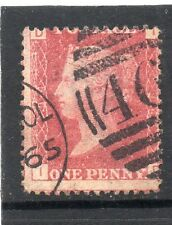 Queen Victoria used one penny red stamp. SG 43 Plate 94 Letters I D
