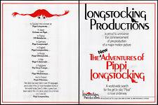 THE NEW ADV OF PIPPI LONGSTOCKING__Orig. 1985 Trade AD / poster__Astrid Lindgren