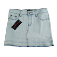 New Ladies Older Girls Short Washed Out Faded Denim Skirt, Since Jane Sizes 6-12