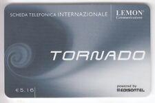 EUROPE  TELECARTE / PHONECARD .. ITALIE 5€16 EDISONTEL TORNADO LEMON +N°