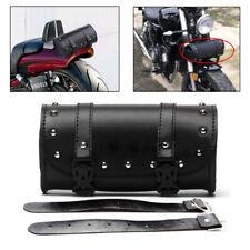 Motorcycle Round Synthetic Leather Fork Handlebar Tool Bag.Saddlebag Roll Barrel