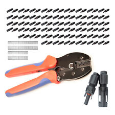 50x Paar MC4 Stecker 1-1 Solarstecker + Crimpzange 2,5/4/6mm² - Crimping Tool
