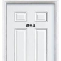 Storage room Sign Sticker for Door Wall Window Art Decor Vinyl Decal Words Sign