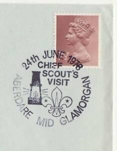 GB Stamps Souvenir Postmark Chief Scout's Visit, Fleur de Lys logo, Lantern 1978