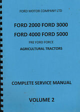 Ford 2000, 3000, 4000, 5000 Pre Ford Force (c.1967) Volume 2 Service Manual