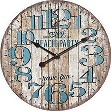 "Extra, Extra Large Retro Shabby Chic Wall Clock. 58cm Diameter (22"" +) 8121"