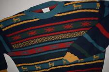 Benetton Winter Strick Pullover Sweatshirt Sweater Vintage Weihnachten Italia L