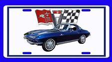 New Dark Blue 1963 Chevy Corvette  License Plate