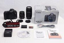 Canon EOS 5D Mark III 22.3 MP Digital SLR Camera GOOD WORKING + TWO Canon Lenses