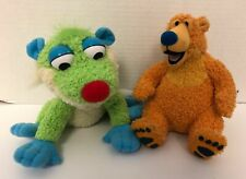 "(2) Mattel BEAR IN THE BIG BLUE HOUSE & TREELO Plush Lot 7"" Stuffed Animal Set"