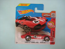 Diecast Hotwheels Then and Now Corvette Grand Sport Roadster Red on Blister