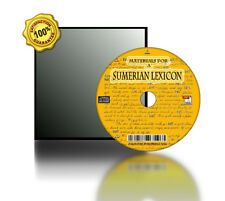 """Materials for a """"Sumerian Lexicon"""" With Grammatical Introduction Book On CD"""