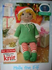 Knitting Pattern Leaflet - HOLLY THE ELF - perfect Christmas companion in VGC