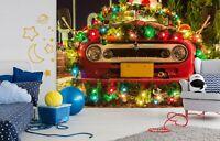 3D Christmas Car R53 Transport Wallpaper Mural Sefl-adhesive Removable Zoe