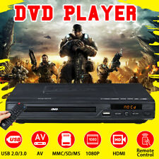 LCD DVD Player Compact Regions Video MP4 MP3 CD USB w/ 3.0 Control Remote 110V