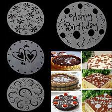 Eco 4PCS Friendly Flower Heart Print Stencils Mold Decorating Mode Bakery Tools