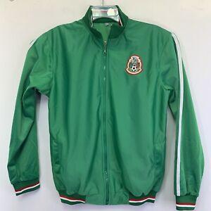 Mexico Soccer/ Football Full Zip Windbreaker Mens Medium Green Jacket (O77)