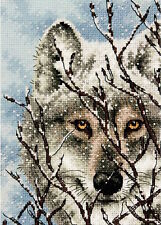 Dimensions Needlecrafts 65131 Gold Petite Wolf Counted Cross Stitch Kit
